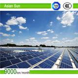 접히는 편평한 지붕의 PV 구조 태양 전지판 거치
