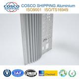 6063-T5 de perfil de aluminio de extrusión de disipador de calor con el mecanizado CNC