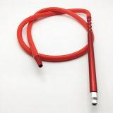 mangueira de Shisha do cachimbo de água do silicone do vermelho de 2m com adaptador bucal do metal (ES-HH-016-1)