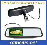 Carro original de 4,3 LCD Espelho Retrovisor com Suporte OEM para carros diferentes