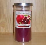 ふたが付いている明確なガラス瓶の多色刷りの香料入りの大豆のロマンチックな蝋燭