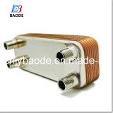 Cambiador de calor cubierto con bronce cobre de la placa de AISI 316 para la refrigeración y la calefacción