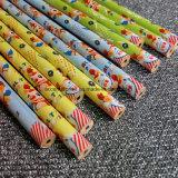 지우개를 가진 최신 각인 까만 목제 연필