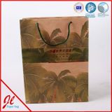 Sacchetti impaccanti stampati del regalo dell'elemento portante di acquisto della carta kraft Per imballaggio