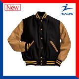 Healong a buon mercato ha tagliato e cuce il rivestimento di baseball del cappotto degli abiti sportivi di inverno di modo