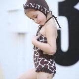 소녀 표범 인쇄 수영장을%s 한 조각 수영복 아이들 수영복 소녀 아기 수영복