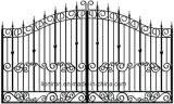 Bei cancelli dell'entrata del ferro Hand-Crafted disegno popolare