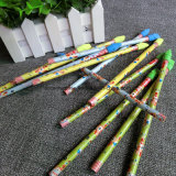 Crayon en bois noir à l'estampage à chaud avec gomme à effacer