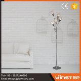 Lampada di pavimento di vetro contemporanea del lampadario a bracci di figura della sfera del ferro 25W