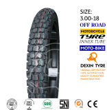 O sul da motocicleta do pneumático de América parte o pneu 3.00-18 da motocicleta do pneumático da motocicleta do velomotor