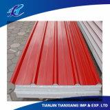 建築材料カラーによって塗られる電流を通された亜鉛コーティングの屋根ふきシート