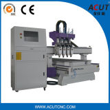 Machine de gravure pneumatique de commande numérique par ordinateur de 4 axes de couteau en bois de la commande numérique par ordinateur Acut-1325