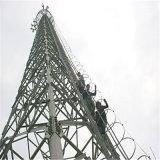 Torre de aço de ângulo de comunicação galvanizada quente DIP