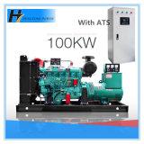 generador diesel del alternador sin cepillo de cobre puro 100kw/125kVA con el ATS