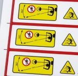 Etiquetas personalizadas de etiqueta de advertência de impressão