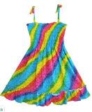 Robe de filles Rainbow Smocked Halter Enfants Vêtements