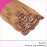 Brasilianisches Klavier-menschliche Jungfrau-Haar-Klipps im Haar