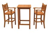 Ensemble de salle à manger en bois à vendre chaud pour jardin avec quatre chaises