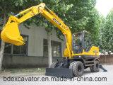 Escavatore della rotella di migliore vendita della Cina piccolo con il trivello di Rotory/Grasper/martello tagliato
