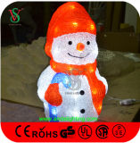 LED de jouets de Noël Noël Bonhomme de neige à la lumière
