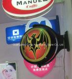Boîte à lumière LED à montage mural pour signe de banque