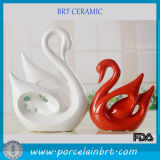 Самомоднейшее Ceramic Red и White Couples Swan Wedding Gift