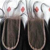 100%のブラジルの人間の毛髪を搭載するレースの閉鎖の織り方