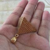 18K de gouden Tegenhanger Mjhp088 van de Piramide van de Juwelen van het Metaal van de Douane