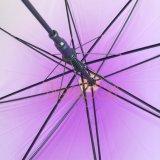 El degradado de color púrpura transparente Poe barato de diferentes tipos de paraguas