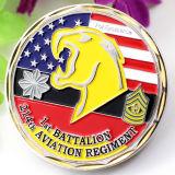 Hacer su propio ejército irlandés en blanco Eagle chapado en oro de metal estampado Magic desafío monedas