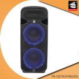 Conjuguent 15 le haut-parleur portatif de Bluetooth de batterie de pouce EQ avec la lumière bleue