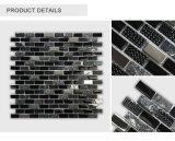 Azulejo de mosaico negro lo más tarde posible diseñado de interior al por mayor de Glass&Stone de la tira