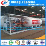 5000L 2.5metricのトンLPGのガスの給油所移動式LPGのタンクアフリカのための満ちるプラントLPGガスの給油所のスキッド5000L移動式LPGタンクASME LPGスキッド端末