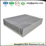 열 싱크를 기계로 가공하는 건축재료 알루미늄 단면도