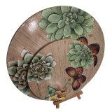둥근 나무 Placemat는, 와 더불어 주문 설계한다