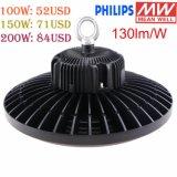 130lm/W UL Dlc 100W 120W 150W 200W 400Wの倉庫の照明LED高い湾、150W UFO LED高い湾ライト
