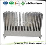 Groot 6063 T5 Zilveren Aluminium van de fabriek Heatsink met ISO9001