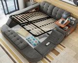 Base King-Size della camera da letto del tessuto molle multifunzionale modulare