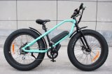 Nuevo neumático gordo 2018 bicicleta eléctrica de la potencia verde de 26 pulgadas