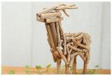 رعويّة أسلوب [هندمد] خشبيّة حرفة مصغّرة حجم أيّل تمثال صغير مكتب طبيعيّ خشبيّة/بينيّة/قضيب/عيد ميلاد المسيح زخرفة حفلة نقلة هبة