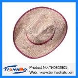Sombrero de Sun del hombre de paja del vaquero de la hierba del Cattail de la manera