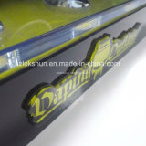 Noir et jaune personnalisé Présentoir de comptoir en acrylique avec 5 tubes, Professional L Stand Présentoir acrylique fabricant de la Chine