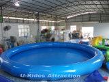 Associação redonda da natação inflável com única câmara de ar
