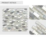 Mosaïque en pierre en verre de salle de bains d'acier inoxydable de mélange neuf de tuile