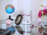 6101 tazas cristalinas cuadradas plásticas del agua del hogar de Metka (con la tapa)