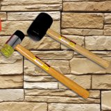 Alta Qualidade 2lb martelo de borracha com pega de madeira para construção