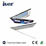 Tarjeta video del precio del LCD del folleto video barato de la pantalla con la impresión de encargo