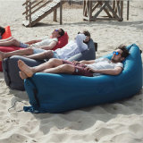 Base inflável do sofá da praia portátil do saco de sono do ar do Lounger