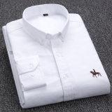 Мужчин платья Long-Sleeved кофта 100% хлопок вышивка тонкий установите