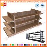 Customized Metal Wooden Shelf Supermarket Shop Display Stand (ZHS197)